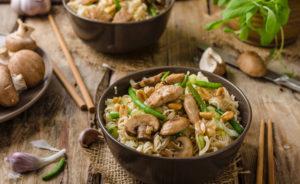 Kelp & mushroom stir fry