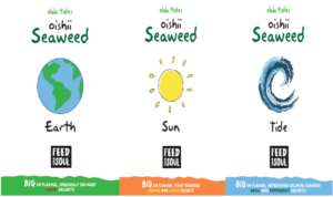 Ebb Tides Oishii Earth, Tide & Sun - Goodness discounted for those wanting to Snack, Sprinkle or Infuse our dried seaweed in sachets