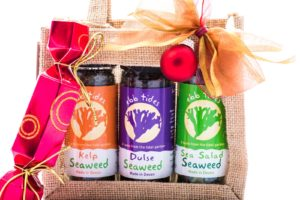 Ideal Christmas gift for vegan friends, girlfriends, boyfriends and family buy Ebb Tides Seaweed Shaker Gift Bag