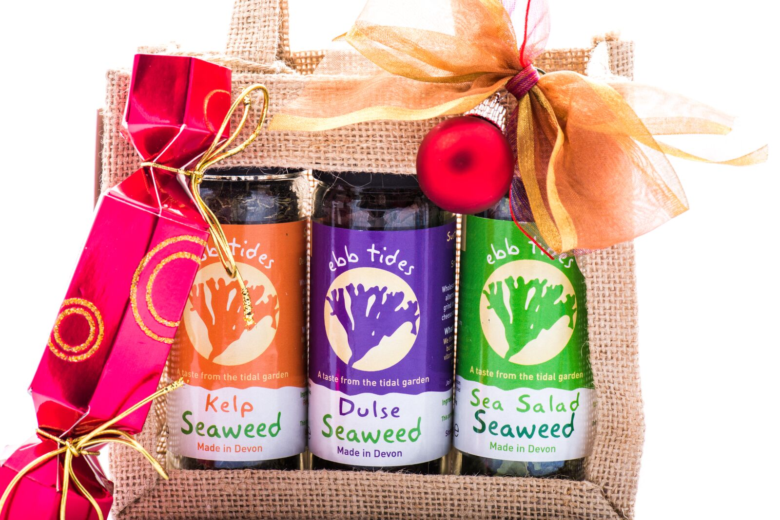 Ideal Christmas gift for vegan friends, girlfriends, boyfriends and family buy Ebb Tides Seaweed Shaker Gift Bag